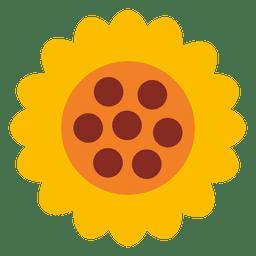 Gelbe Sonnenblume-Symbol