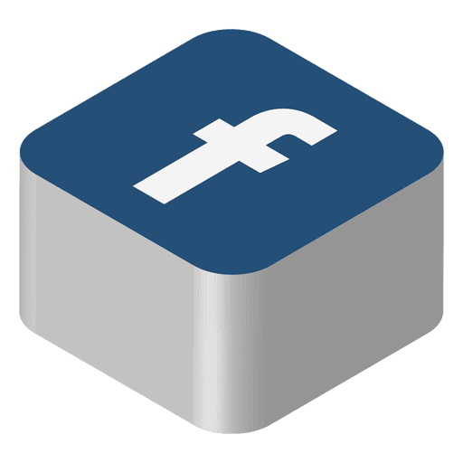 Icono isometrico de facebook Transparent PNG