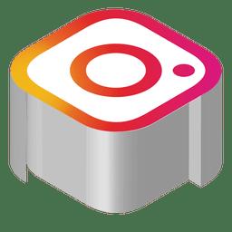 Instagram icono isométrica