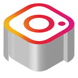 Instagram isometric icon