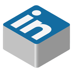 Ícone isométrico do Linkedin