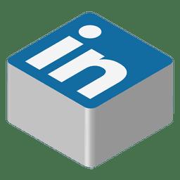 Icono isométrico de Linkedin