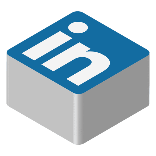 Linkedin Isometric Icon Transparent Png Svg Vector