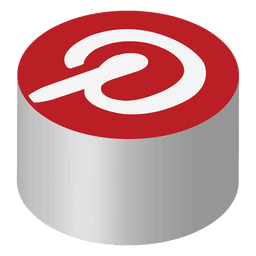 Pinterest isometric icon