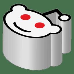 Ícone isométrico Reddit
