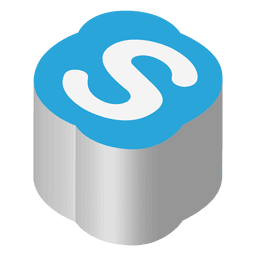 Skype icono isométrica