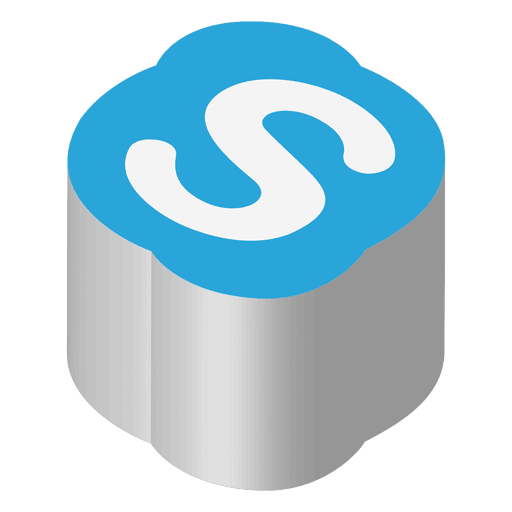 Skype Isometric Icon Transparent Png Svg Vector File
