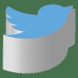 Icono isométrico de Twitter