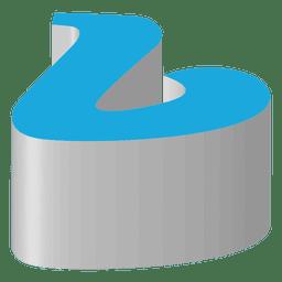 Icono isométrico de vimeo