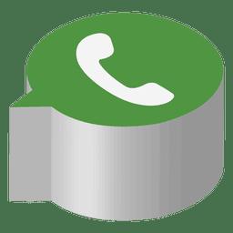 Icono isométrico de Whatsapp.