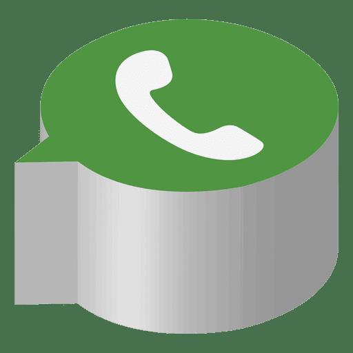 Ícone isométrico WhatsApp - Baixar PNG/SVG Transparente