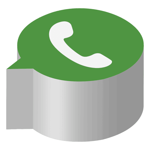 Whatsapp isometric icon Transparent PNG