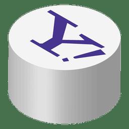Icono isometrico de Yahoo