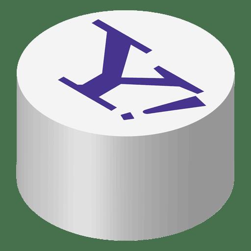 Icono isometrico de Yahoo Transparent PNG