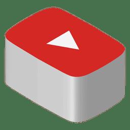 Ícone isométrico do Youtube