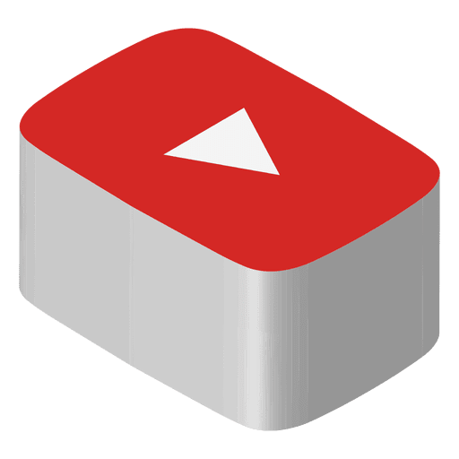 Youtube isometric icon Transparent PNG