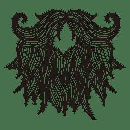 Beard hipster moustache