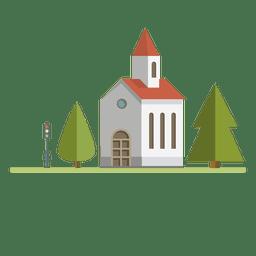 Edificio iglesia de la ciudad