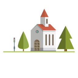Igreja da cidade de construção