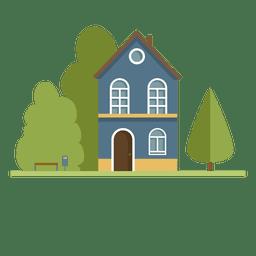 Construyendo barrio de casas de ciudad