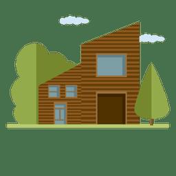 Edificio de casa de ciudad ilustrado