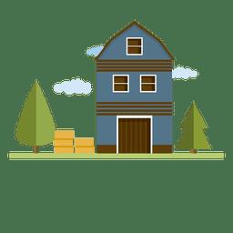 Construção de casa de palheiro