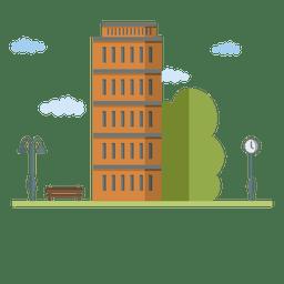 Casa da cidade de edifício plano