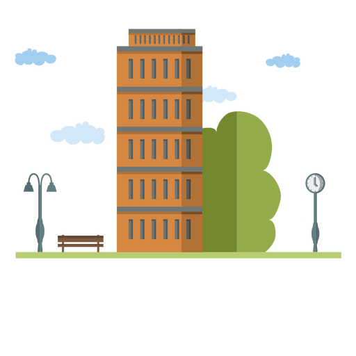 Flat building city house - Transparent PNG & SVG vector