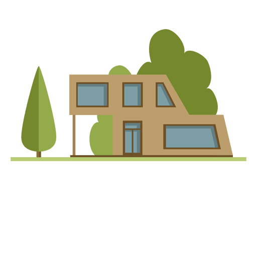 Flat building city neighborhood house