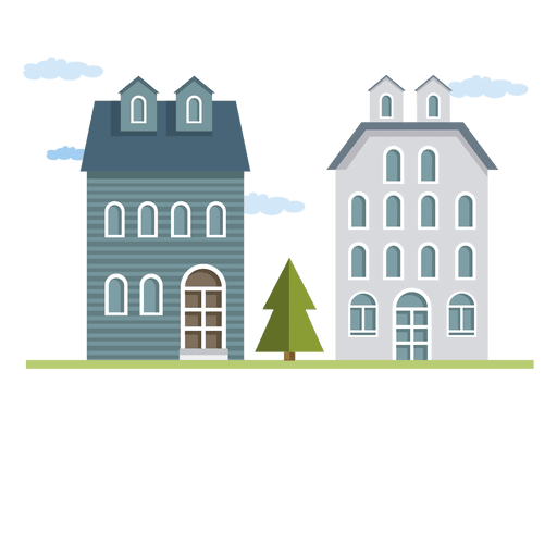 Flat building or houses