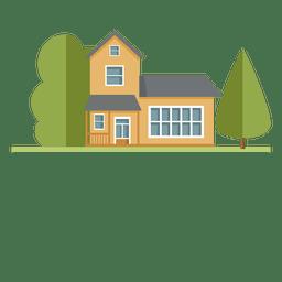 Casa de cidade de edifício residencial plana