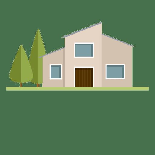 Construcción de casa de ciudad moderna