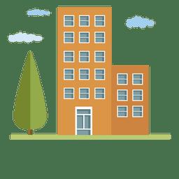 Casa da cidade de edifícios