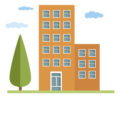 Buildings city house - Transparent PNG & SVG vector