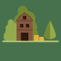 Cabine da casa da cidade de construção