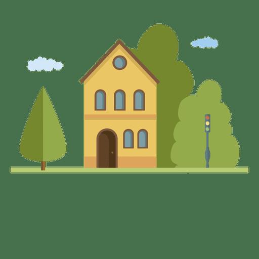 Building city houseflat landscape home.svg