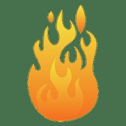 Ilustración de fuego de dibujos animados