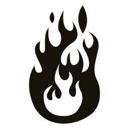 Cartoon fire illustration black white