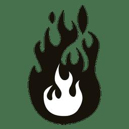 Dibujos animados fuego ilustración negro blanco
