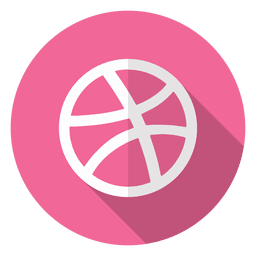 Dribbble icon logo