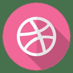 Logotipo del icono de Dribbble