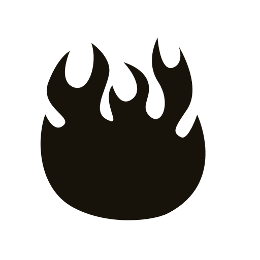 Fire cartoon black contour Transparent PNG