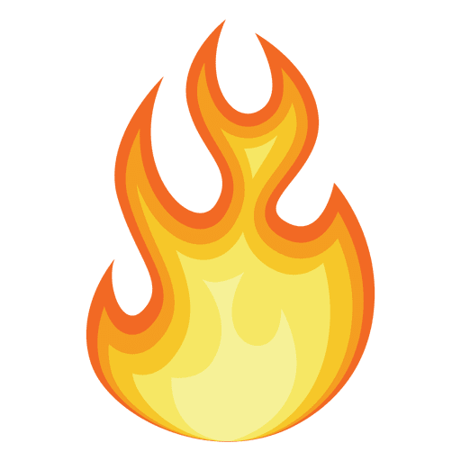 Fire cartoon contour silhouette Transparent PNG
