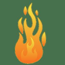Ilustración de llama de dibujos animados de fuego