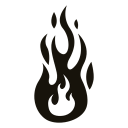 Fire cartoon flame illustration black white