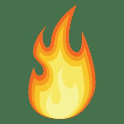 Silhueta de desenhos animados de fogo