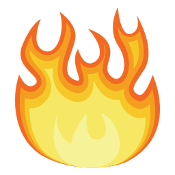 Fire gradient illustration