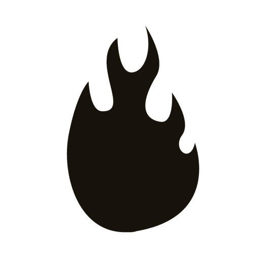 Flame cartoon black silhouette Transparent PNG