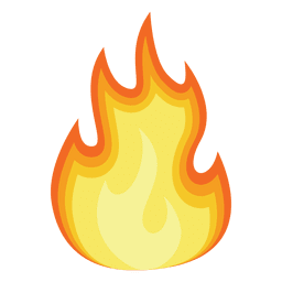 Flame gradient cartoon illustration