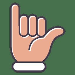 Surfs Up Hand Gesto